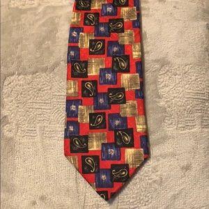 Robert Talbert studio Nordstrom XL 100% silk tie